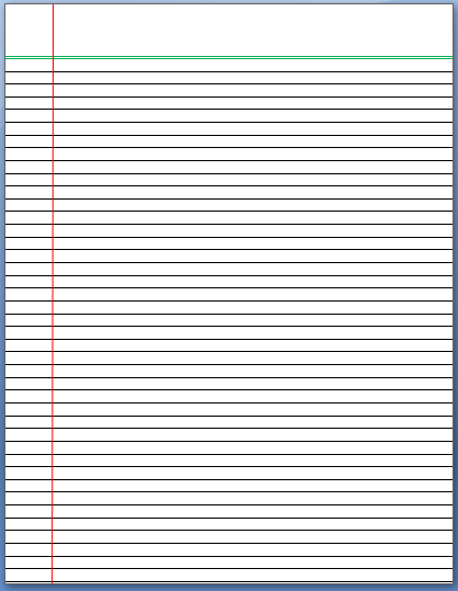 Paper With Lines Template  Microsoft Word Notebook Paper Template