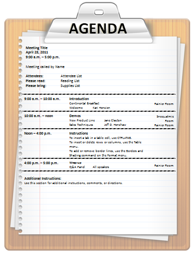 Meeting agenda template ms word fun meeting agenda templates for pinterest pronofoot35fo Image collections
