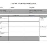 Lesson Plan Templates – 6 Free Templates