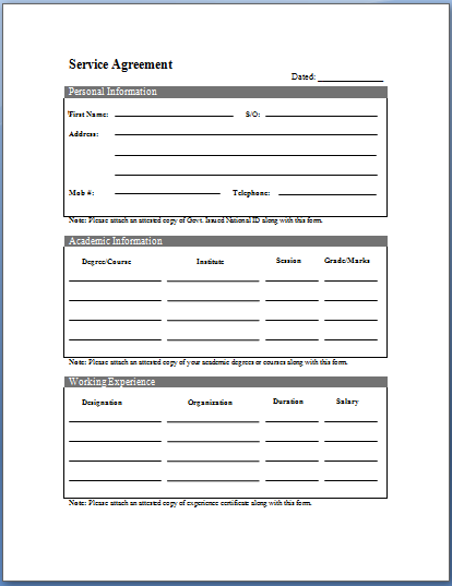 ... Service Agreement Template,. Here ...