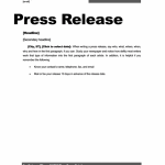 Press Release Template – 15 Free Samples (MS Word Docs)