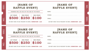 Raffle Ticket Template Excel : Raffle Tickets Template Free, How ... Raffle Tickets Template Free