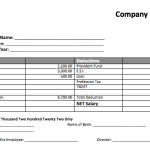 Salary Slip Templates – 5 Free Printable