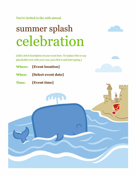 Summer Event Brochure Template