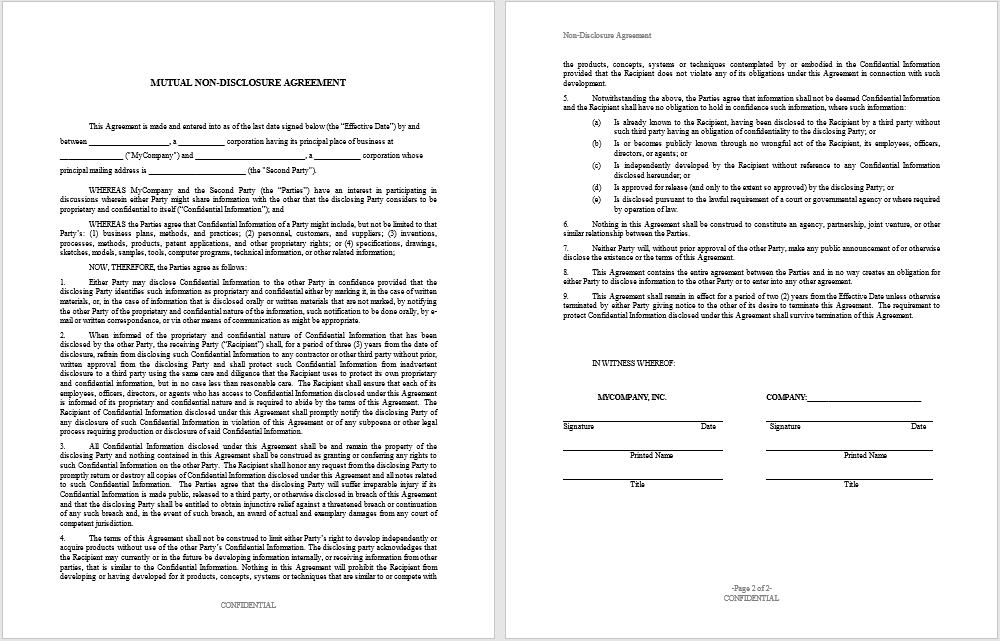 non-disclosure agreement template 04