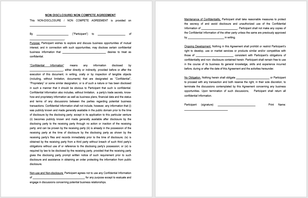 non-disclosure agreement template 07