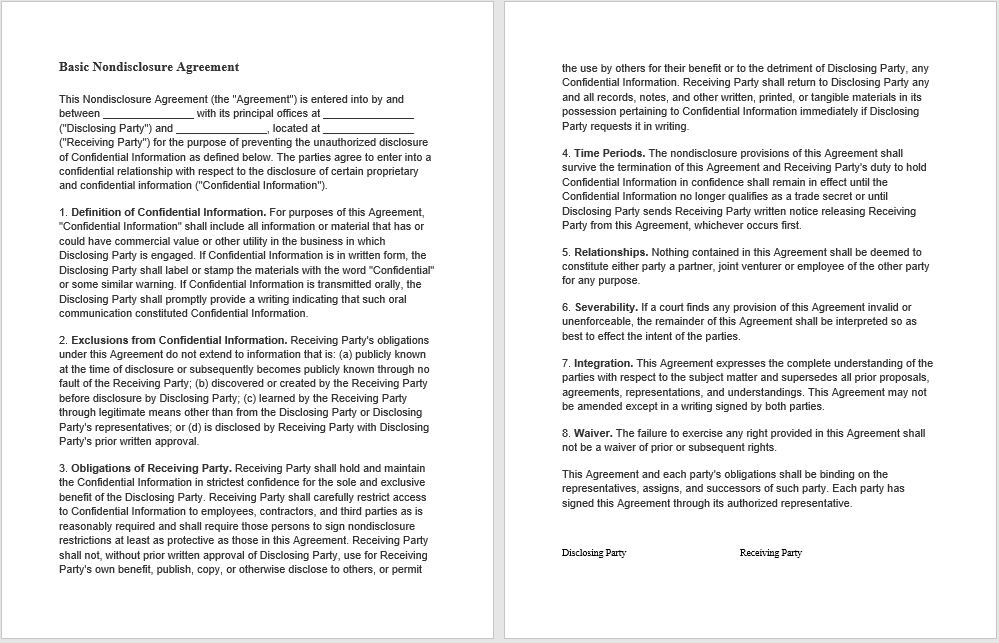 non-disclosure agreement template 08