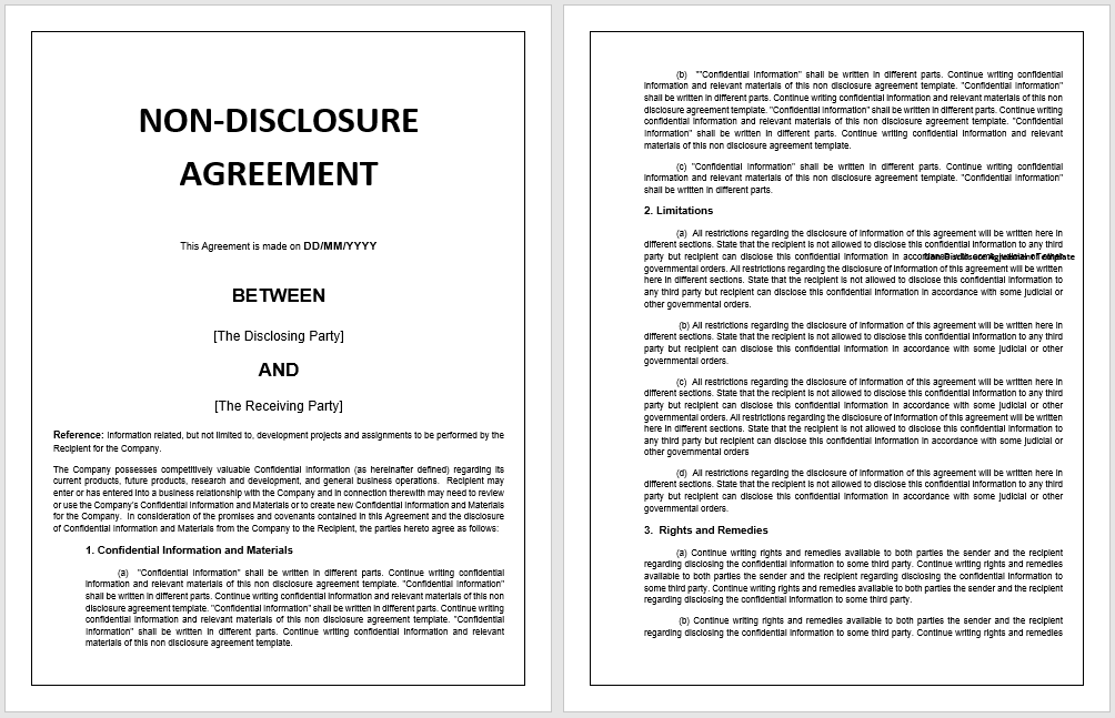 non-disclosure agreement template 09
