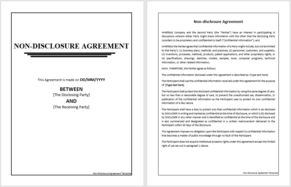 non-disclosure agreement template 10