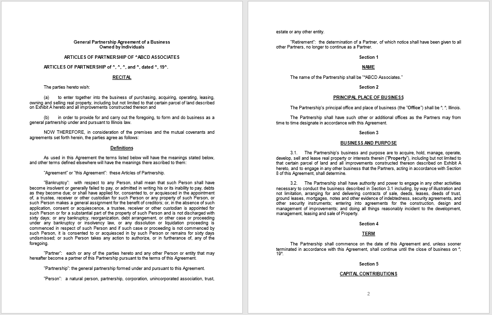 partnership agreement template 04