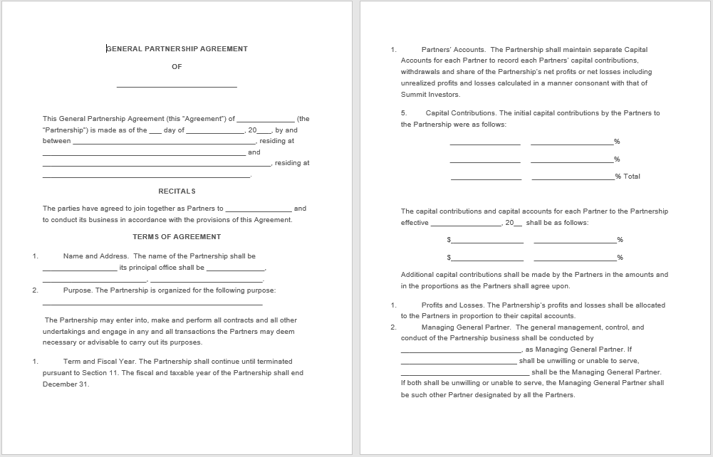 partnership agreement template 09