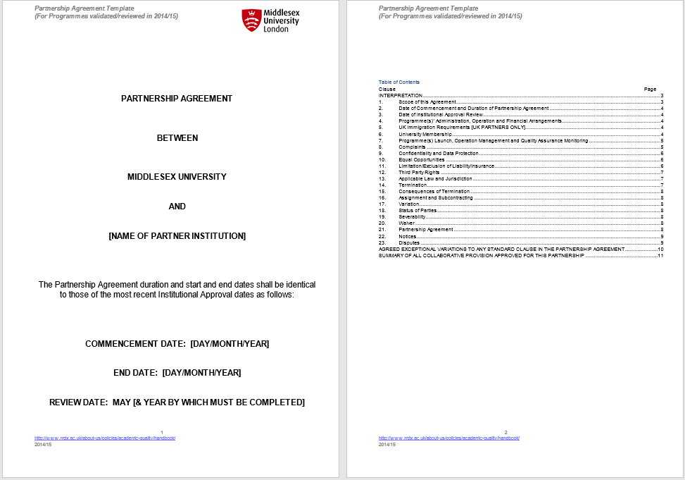 partnership agreement template 12