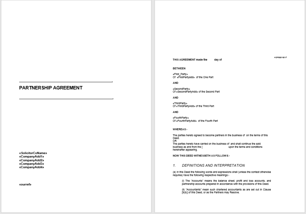 partnership agreement template 15