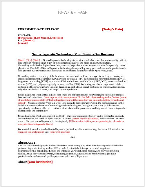 press release template 10