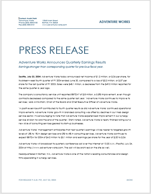 word press release