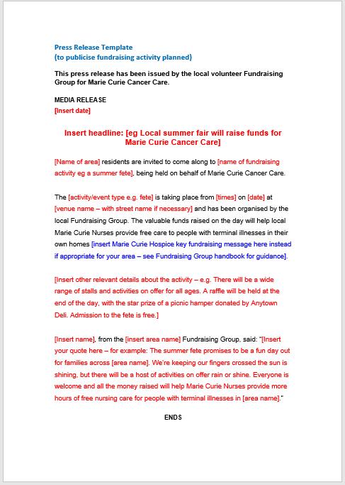 press release template 15