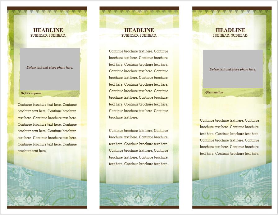 Tri Fold Brochure Template 06