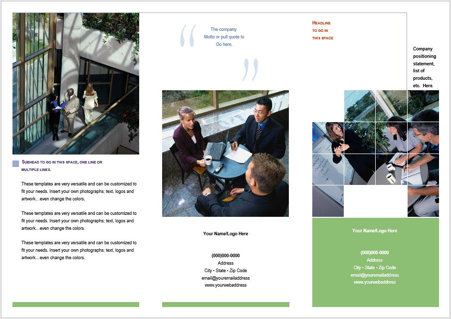 Tri Fold Brochure Template 07