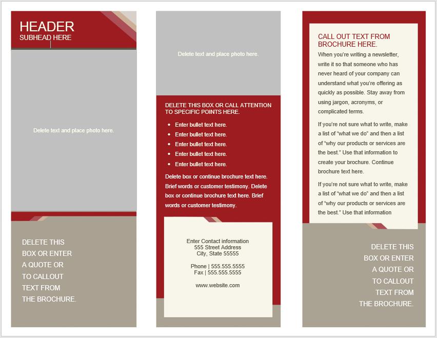 Tri Fold Brochure Template 10