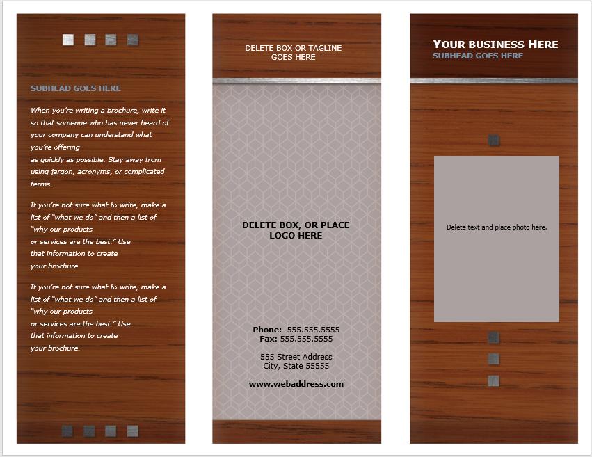 Tri Fold Brochure Template 11