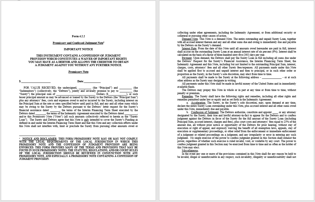 promissory note template 03