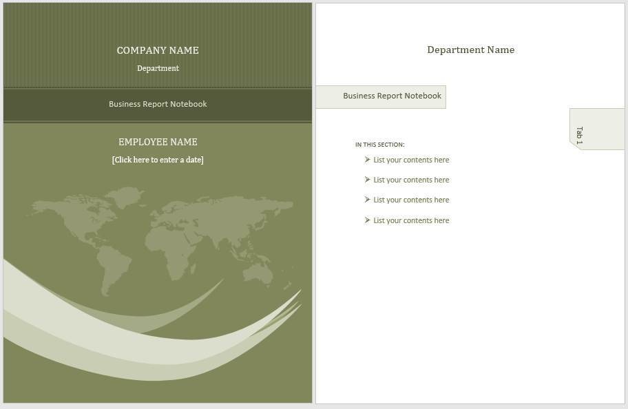 annual business report template 06