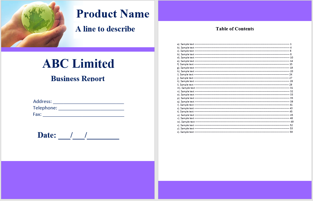 annual business report template 07