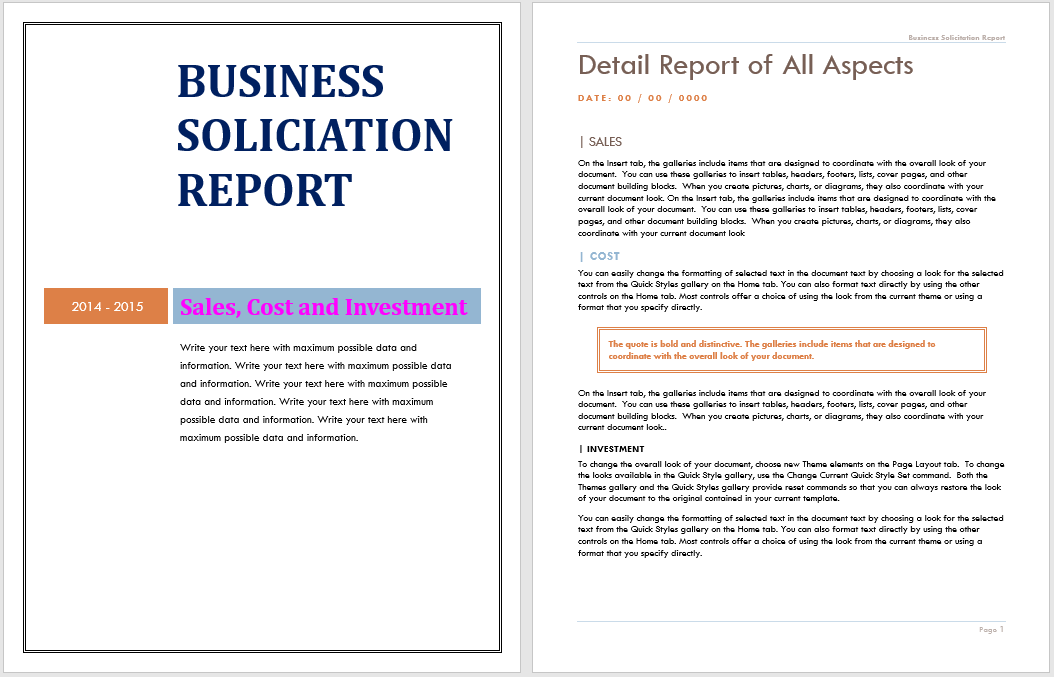 annual business report template 09