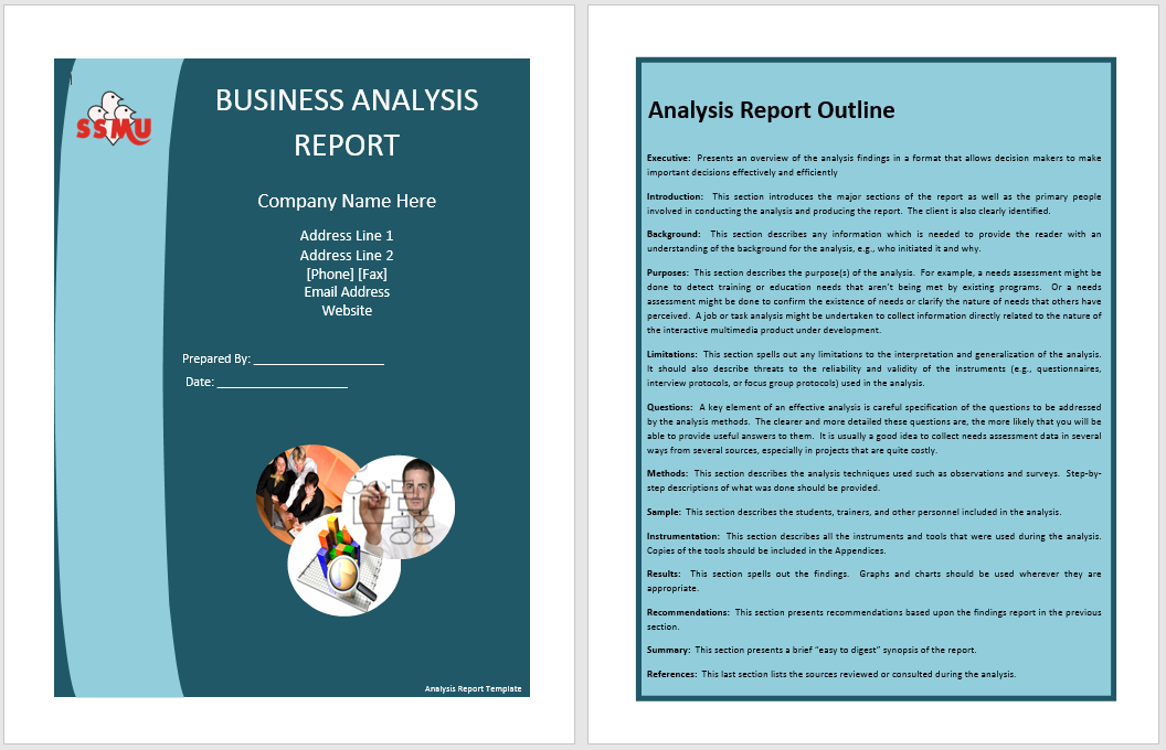 annual business report template 12