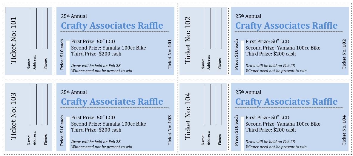 raffle ticket templates 05