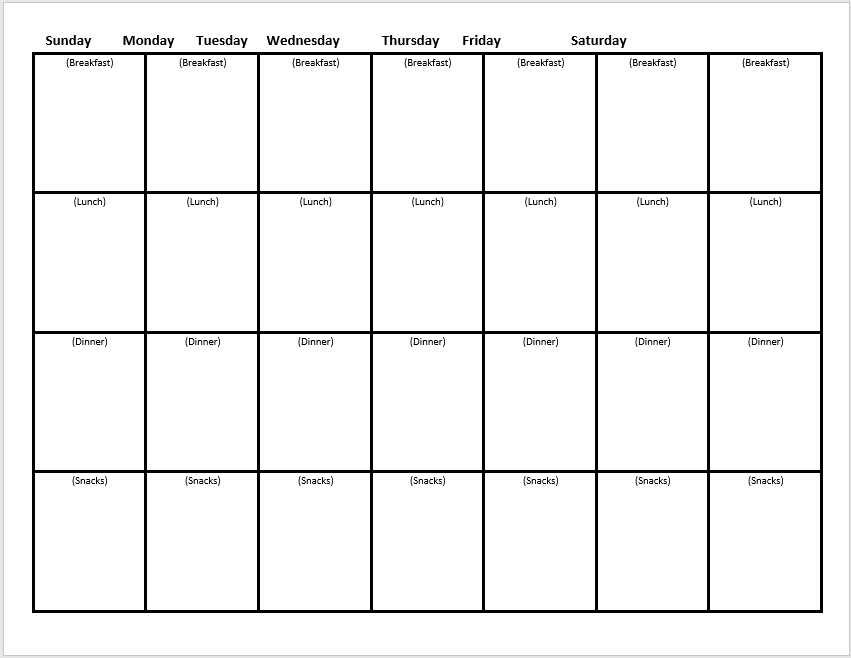 weekly menu planner template 02