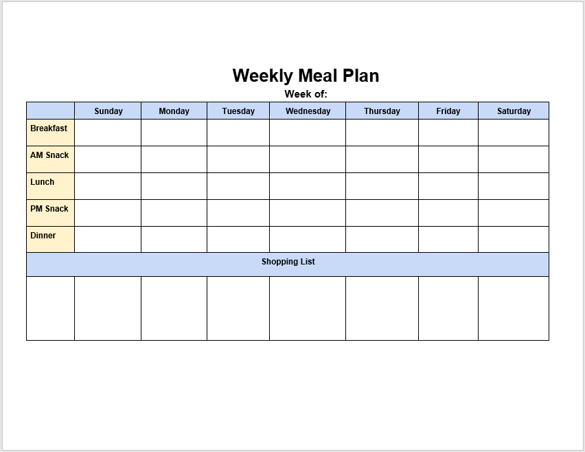 weekly menu planner template 08