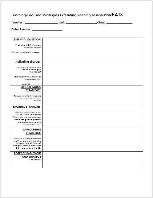 lesson plan word template 04