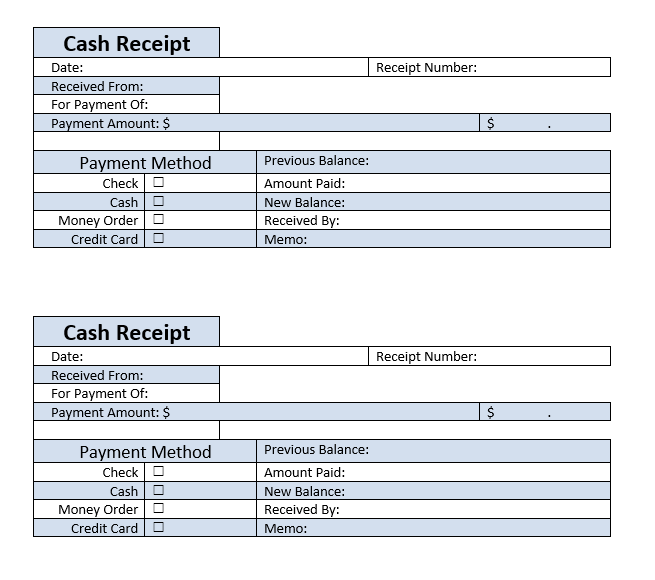 Cash Receipt Template 08