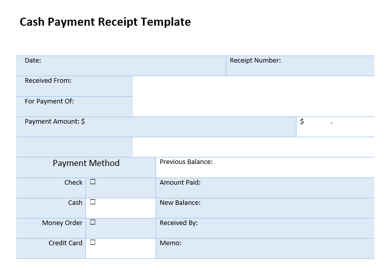 Cash Receipt Template 09