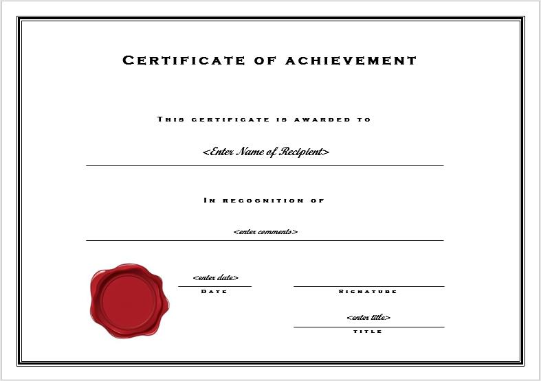 achievement certificate template 05