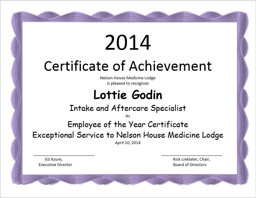 achievement certificate template 06