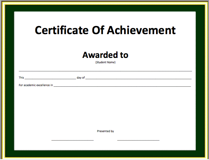 search results for �certificate of achievement template