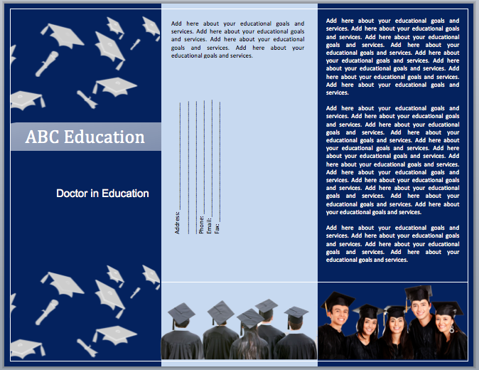 Educational brochure templates the for Educational brochure templates