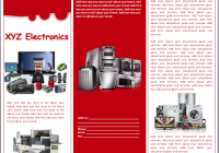Electronics Sales Brochure Template