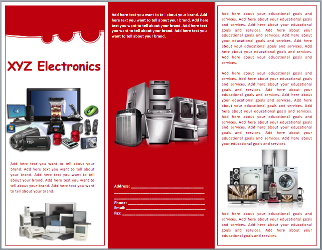 Electronics Sales Brochure Template Word Templates - Sales brochure template