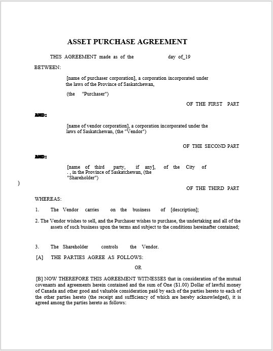 Purchase Contract Word Template 02