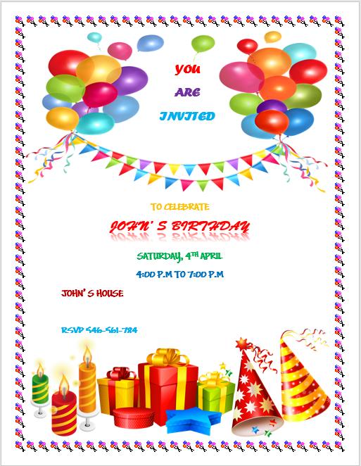 birthday flyer template 2