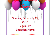 Invitation Templates Archives Word Templates - Birthday party invitation flyer template