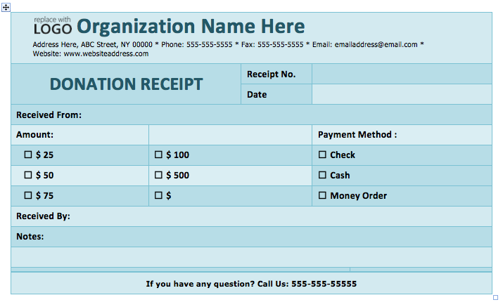 5 Free Donation Receipt Templates Word Templates