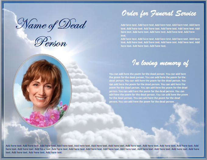 Church brochure template joy studio design gallery for Funeral brochure templates free