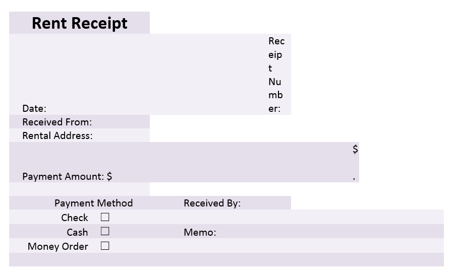 Rent Receipt Template 05