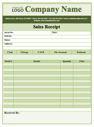 Cash Sale Receipt Template Word from www.wordtemplates4u.org