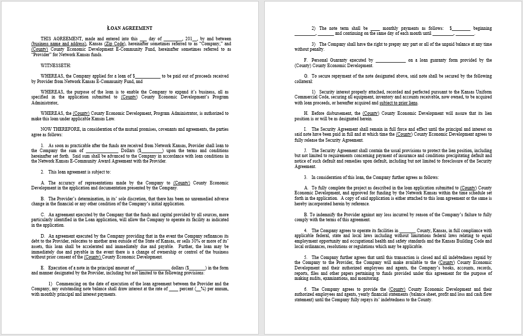 loan agreement template 02