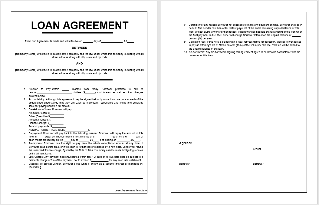 loan agreement template 07